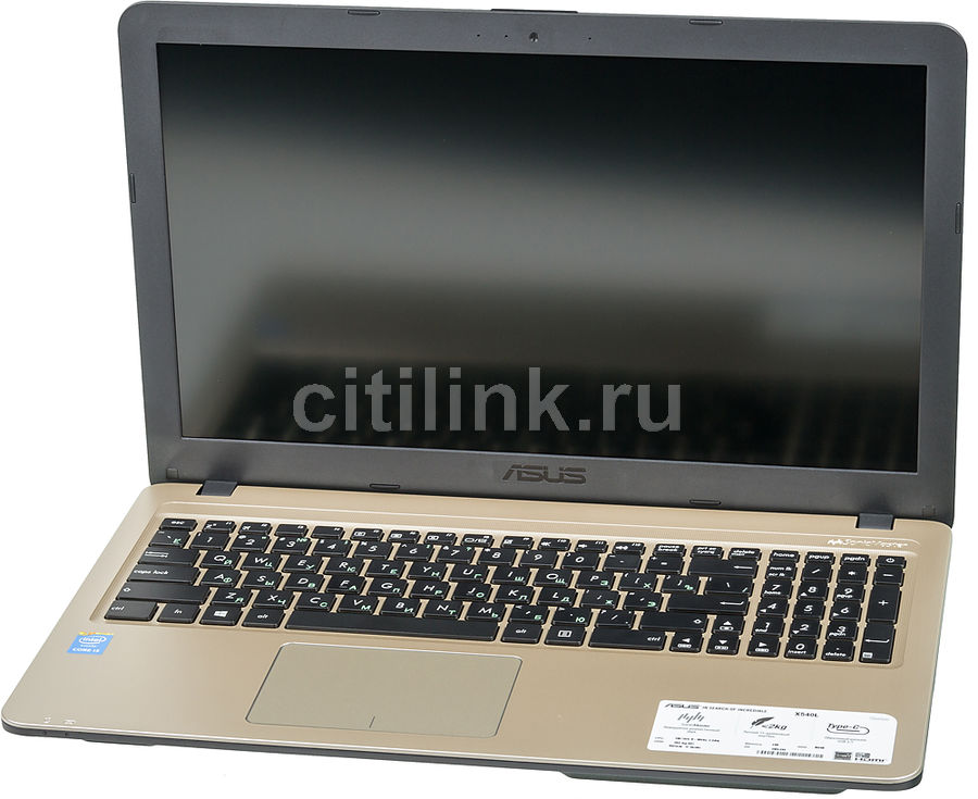 "Ноутбук ASUS VivoBook X540LA-DM1255, 15.6"",  Intel  Core i3  5005U 2.0ГГц, 4Гб, 500Гб,  Intel HD Graphics  5500, DVD-RW, Endless, 90NB0B01-M24400,  черный"