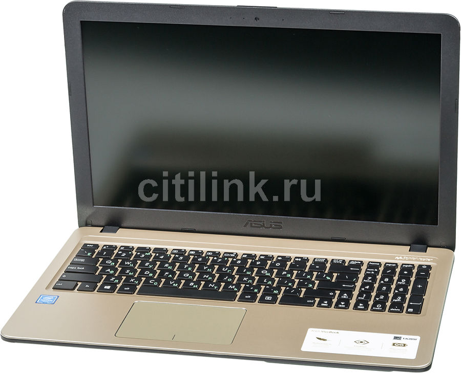 "Ноутбук ASUS VivoBook X540NA-GQ005, 15.6"",  Intel  Celeron  N3350 1.1ГГц, 4Гб, 500Гб,  Intel HD Graphics  интегрированное, Endless, 90NB0HG1-M04350,  черный"