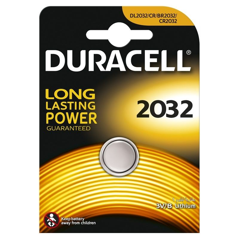 CR2032 Батарейка DURACELL DL2032,  5 шт.