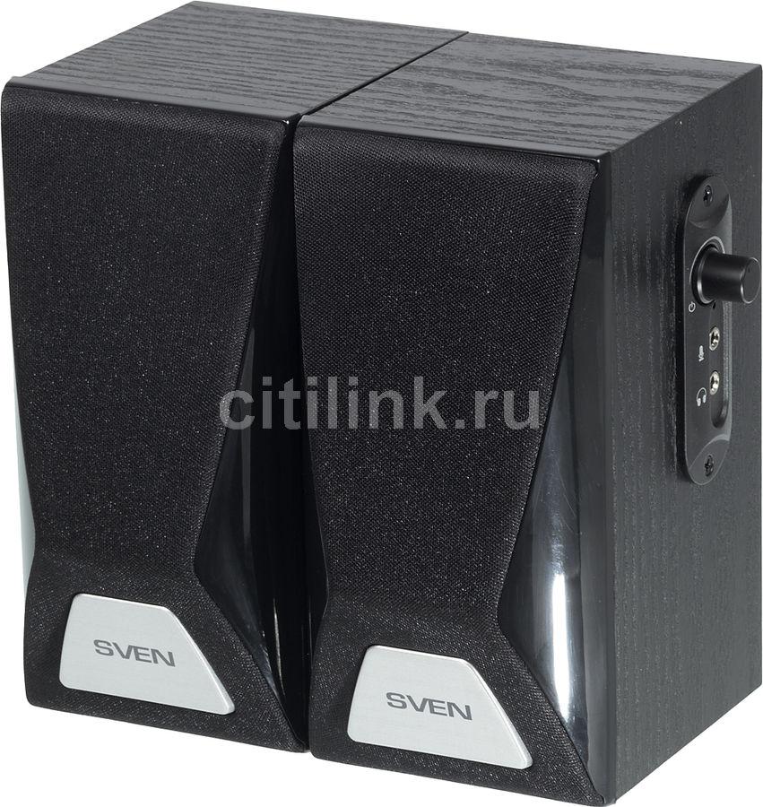 Колонки SVEN SPS-555,  2.0,  черный
