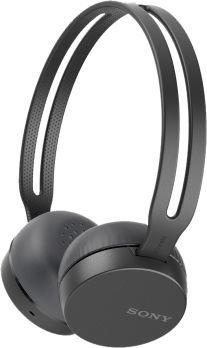 Наушники с микрофоном SONY WH-CH400, Bluetooth, накладные, черный [whch400b.e]