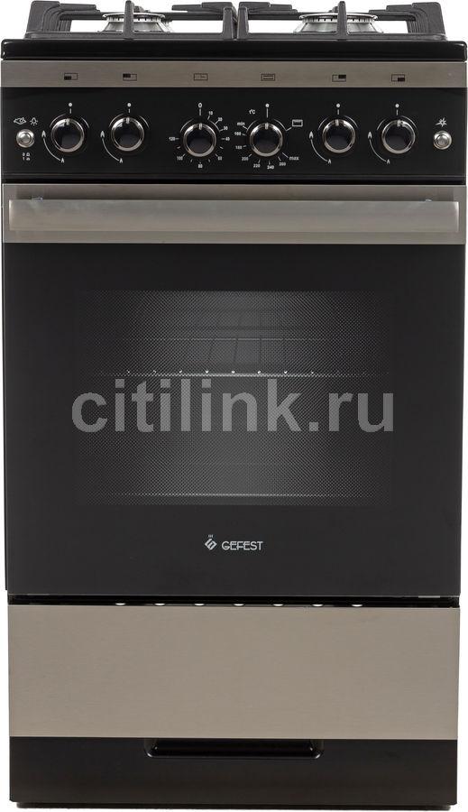 Газовая плита GEFEST ПГ 5500-02 0069,  газовая духовка,  черный