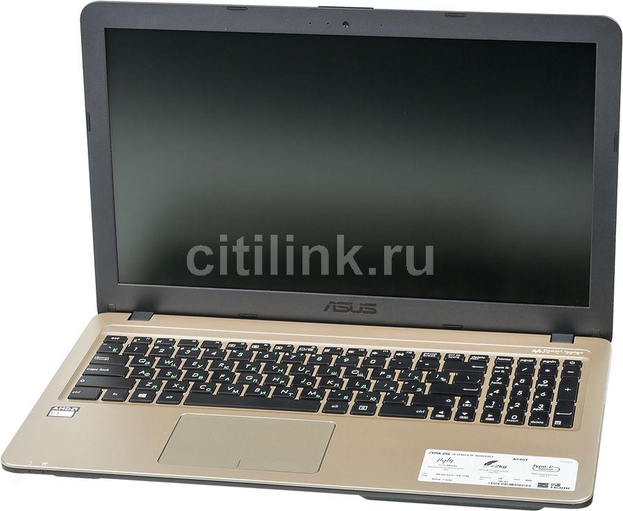 "Ноутбук ASUS VivoBook A540YA-XO059D, 15.6"",  AMD  E1  7010 1.5ГГц, 4Гб, 500Гб,  AMD Radeon  R2, Free DOS, 90NB0CN1-M11420,  черный"