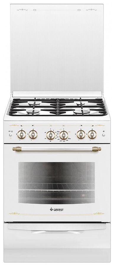 Газовая плита GEFEST ПГ 6100-02 0181,  газовая духовка,  белый