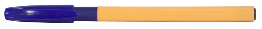 Ручка шариковая Cello TRIMATE GRIP однораз. 0.7мм треугол. резин. манжета желтый синие чернила
