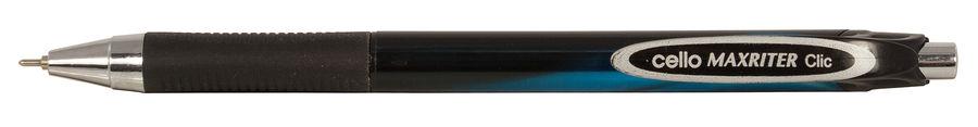 Ручка шариковая Cello Maxriter XS Clic авт. 0.7мм резин. манжета синий металлик синие чернила коробк