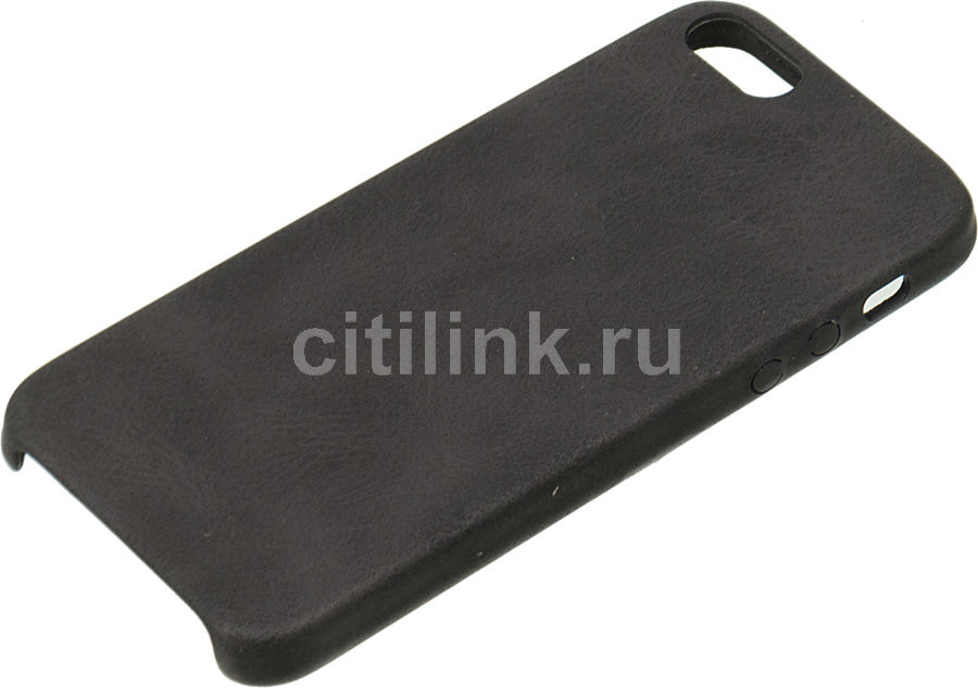 Чехол (клип-кейс) Leather C, для Apple iPhone 5/5s/SE, черный [tfn-rs-07-001ltbk]
