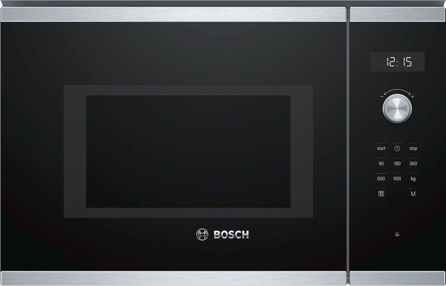 Микроволновая Печь Bosch BFL554MS0 25л. 900Вт нержавеющая сталь/черный (встраиваемая)
