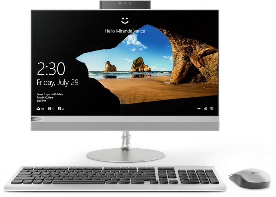 Моноблок LENOVO IdeaCentre 520-22IKU, 21., Intel Core i3 7020U, 4Гб, 1000Гб,  HD Graphics 620, DVD-RW, Free DOS, серебристый [f0d500d2rk]