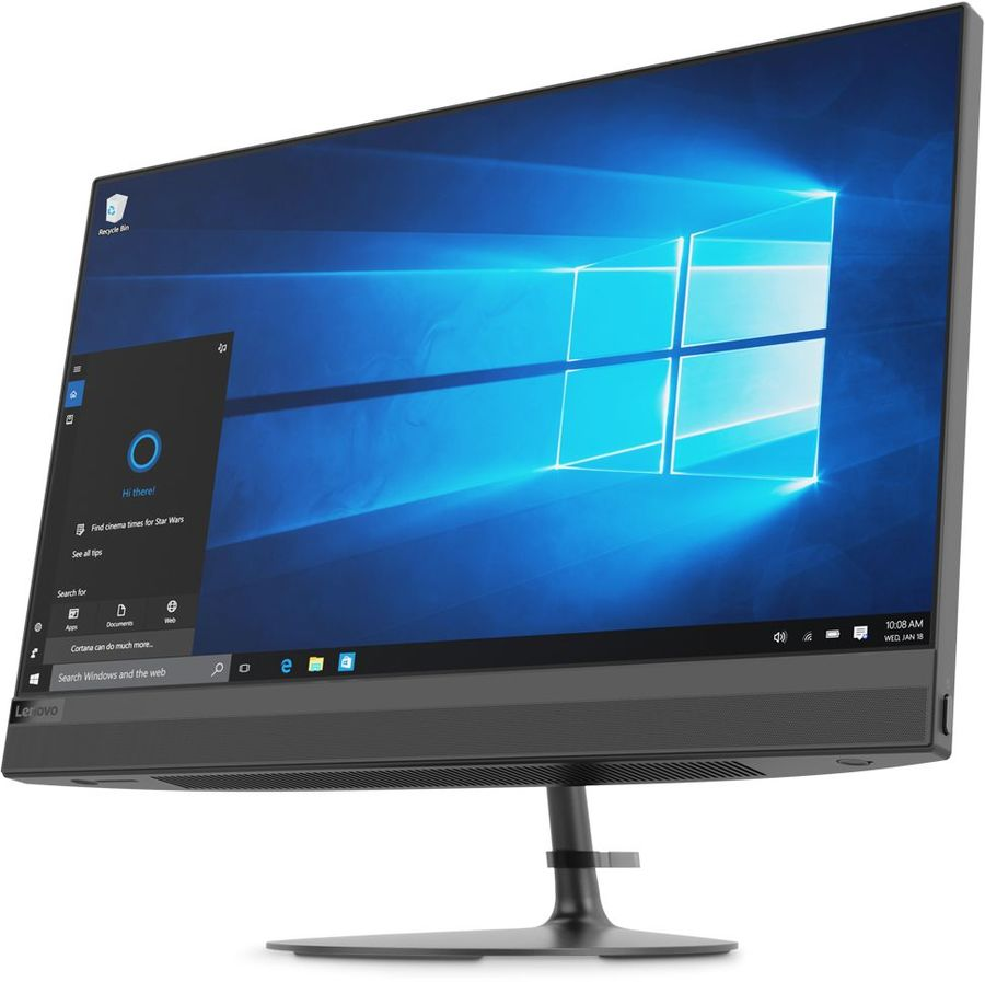"Моноблок LENOVO IdeaCentre 520-22IKU, 21.5"", Intel Core i3 7020U, 4Гб, 1000Гб, AMD Radeon 530 - 2048 Мб, DVD-RW, Free DOS, черный [f0d500e1rk]"