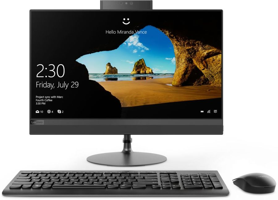 "Моноблок LENOVO IdeaCentre 520-22IKU, 21.5"", Intel Core i3 7020U, 4Гб, 16Гб Intel Optane,  1000Гб, Intel HD Graphics 620, DVD-RW, Windows 10, черный [f0d500e6rk]"