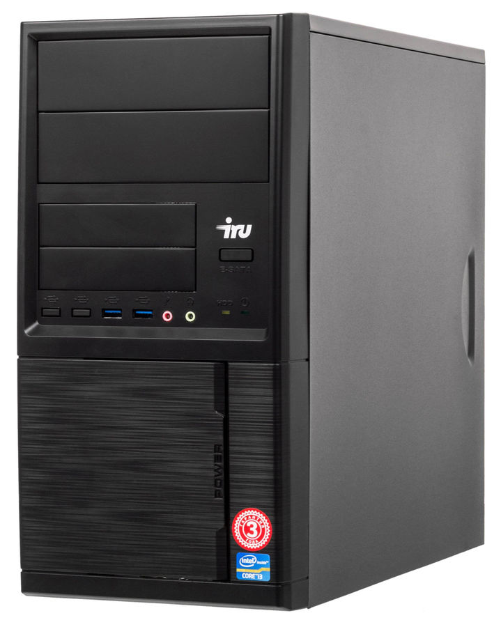 Компьютер  IRU Office 226,  AMD  A6  7400K,  DDR3 4Гб, 1Тб,  AMD Radeon R5,  Windows 10 Professional,  черный [1062811]