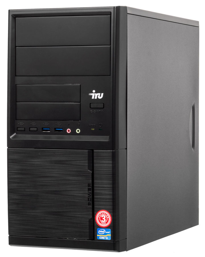Компьютер  IRU Office 315,  Intel  Core i5  7400,  DDR4 4Гб, 1Тб,  Intel HD Graphics 630,  Windows 10 Professional,  черный [1062891]