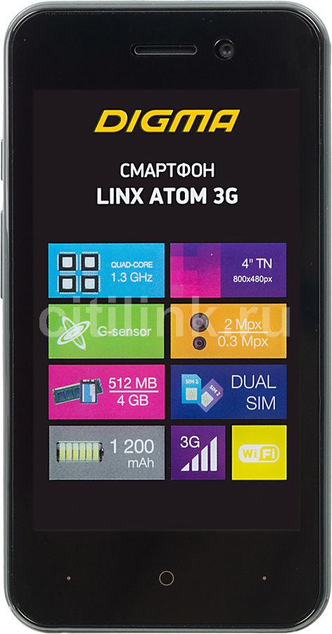 Смартфон DIGMA Linx Atom 3G,  темно-серый