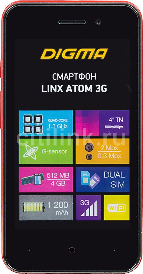 Смартфон DIGMA Linx Atom 3G,  красный