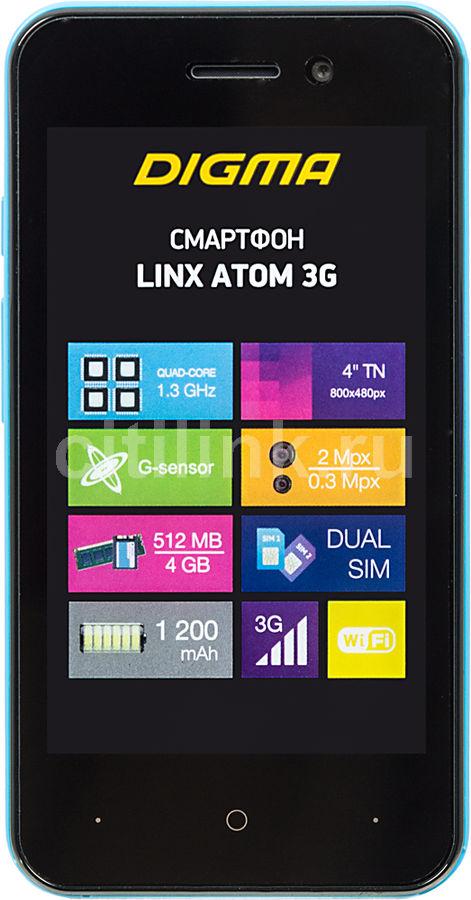 Смартфон DIGMA Linx Atom 3G,  синий