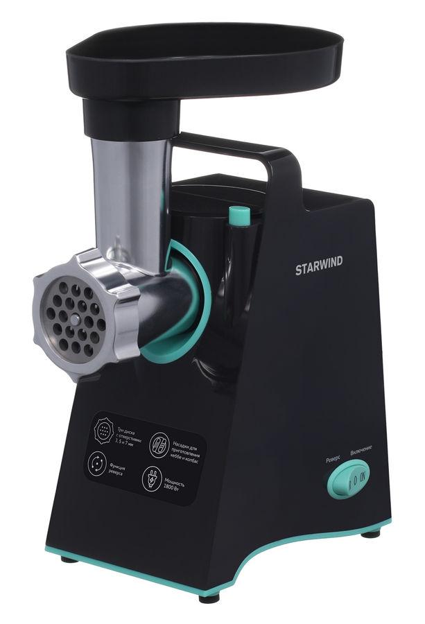 Мясорубка STARWIND SMG4480,  темно-серый / бирюзовый