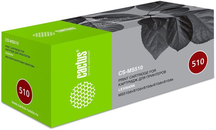 Картридж CACTUS CS-MS510, 50F1U00/50F4U00/50F2U00, черный