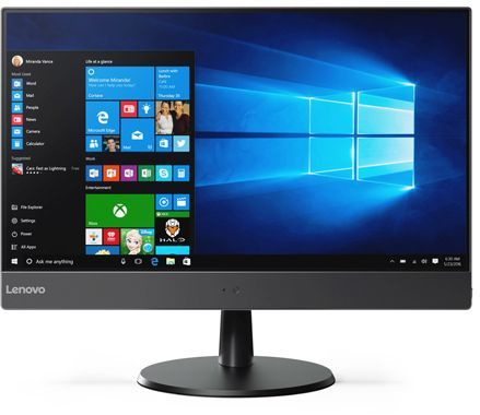"Моноблок LENOVO V510z, 23"", Intel Core i3 7100T, 4Гб, 128Гб SSD,  Intel HD Graphics 630, DVD-RW, Windows 10 Professional, темно-серый [10nq001xru]"