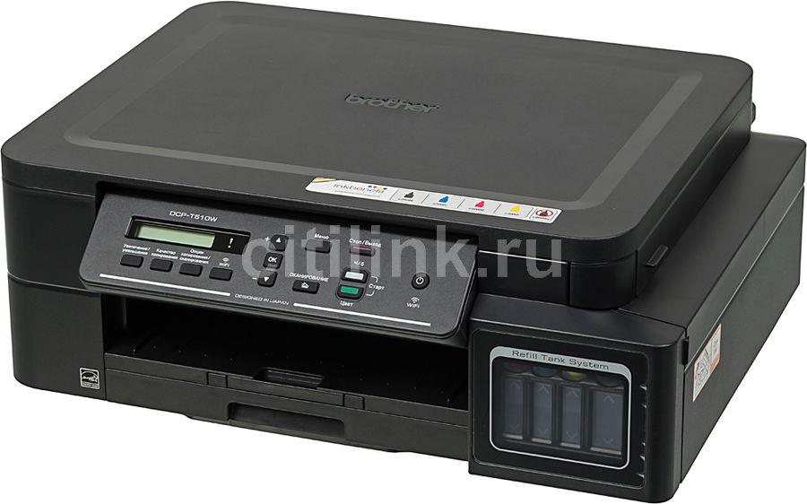 МФУ струйный BROTHER InkBenefit Plus DCP-T510W, A4, цветной, струйный, черный [dcpt510wr1]