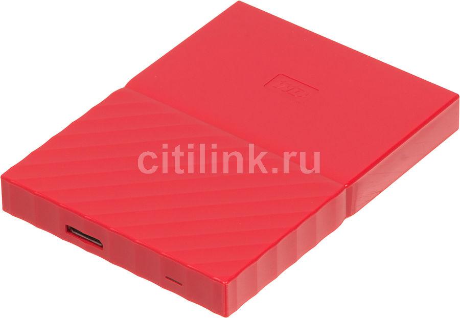 Внешний жесткий диск WD My Passport WDBLHR0020BRD-EEUE, 2Тб, красный