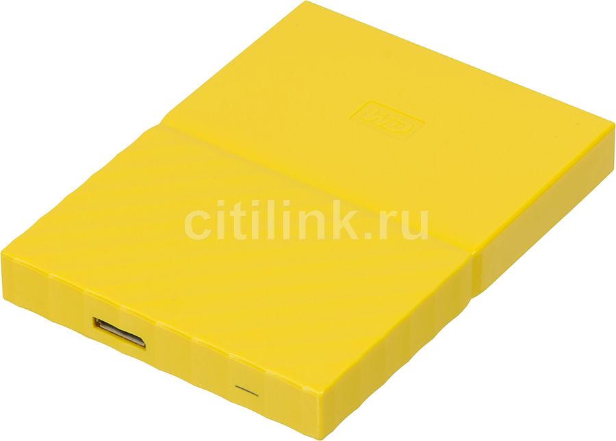 Внешний жесткий диск WD My Passport WDBLHR0020BYL-EEUE, 2Тб, желтый