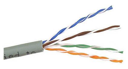 Кабель информ. Lanmaster (TWT-5EUTP/100-GY) кат.5е U/UTP 4X2X24AWG PVC внутр. 100м сер.