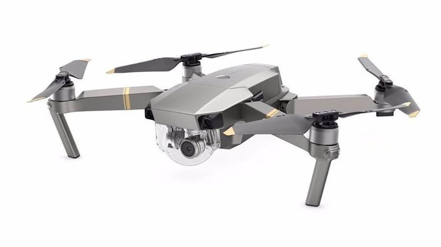 Квадрокоптер DJI Mavic Pro Platinum Fly more Combo с камерой,  платиновый