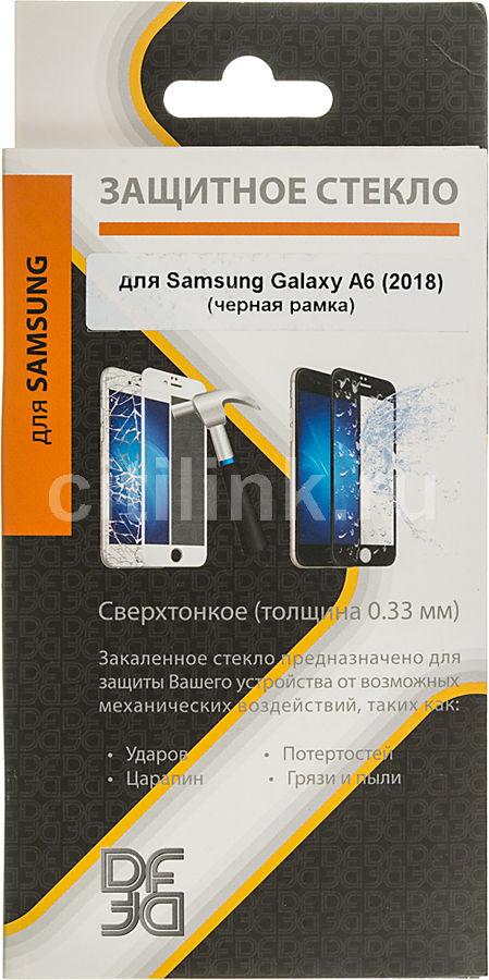 Защитное стекло для экрана DF sColor-48  для Samsung Galaxy A6 2018,  1 шт, черный [df scolor-48 (black)]