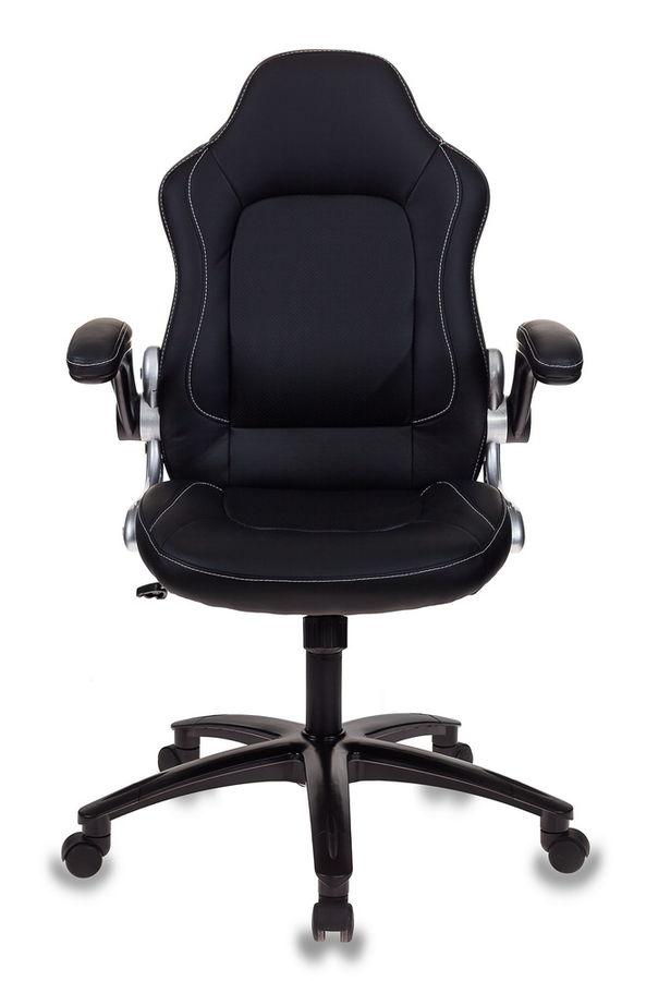 Кресло игровое БЮРОКРАТ VIKING-1, на колесиках, искусственная кожа, черный [viking-1/black]