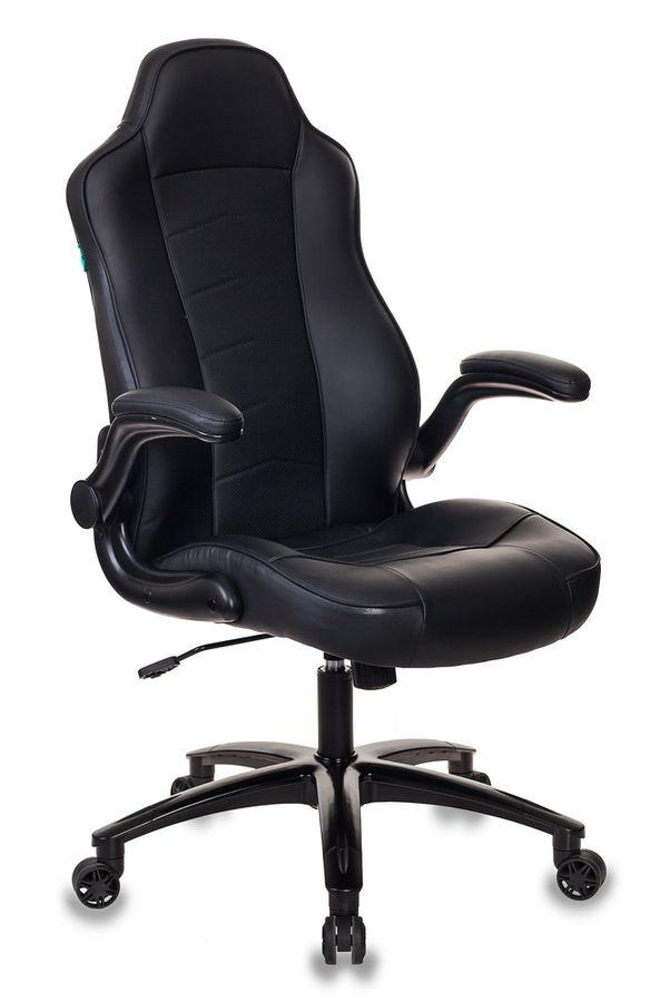 Кресло игровое БЮРОКРАТ VIKING-2, на колесиках, искусственная кожа, черный [viking-2/black]
