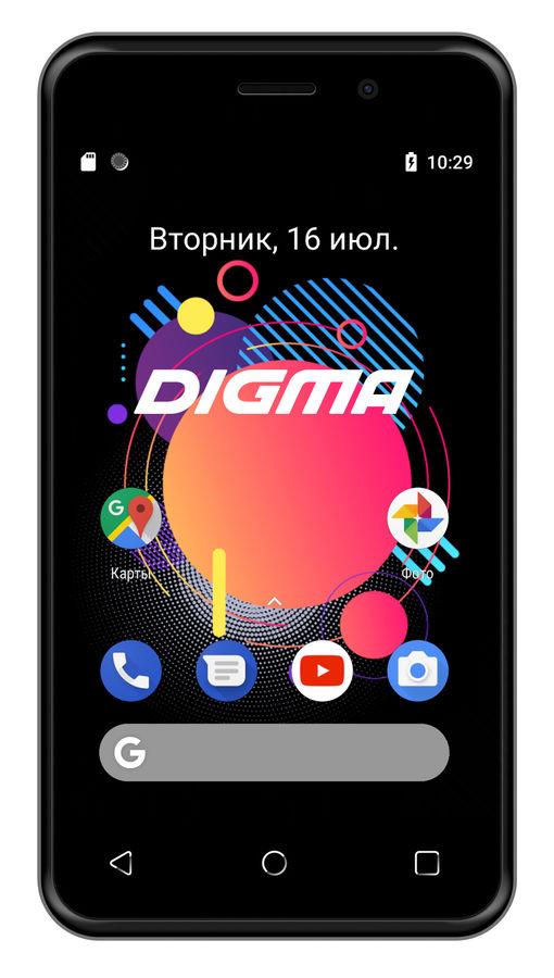 Смартфон DIGMA Linx Alfa 3G,  черный