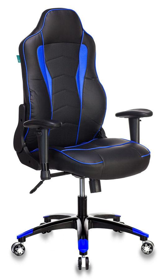 Кресло игровое БЮРОКРАТ VIKING-3, черный/синий