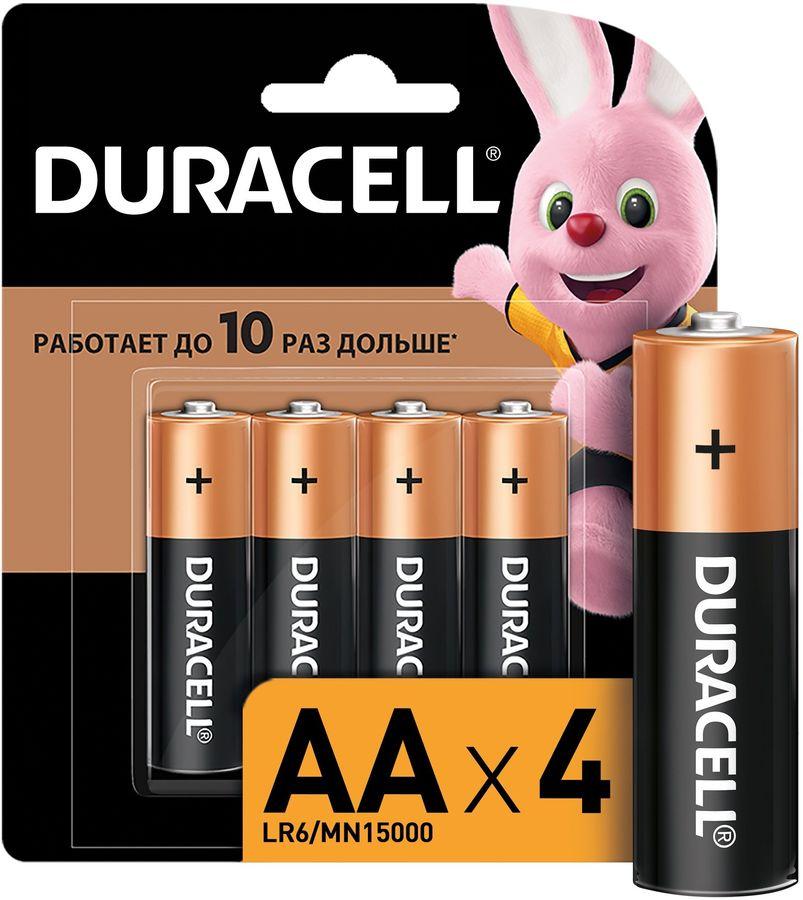 AA Батарейка DURACELL Basic CN LR6-4BL MN1500,  4 шт.