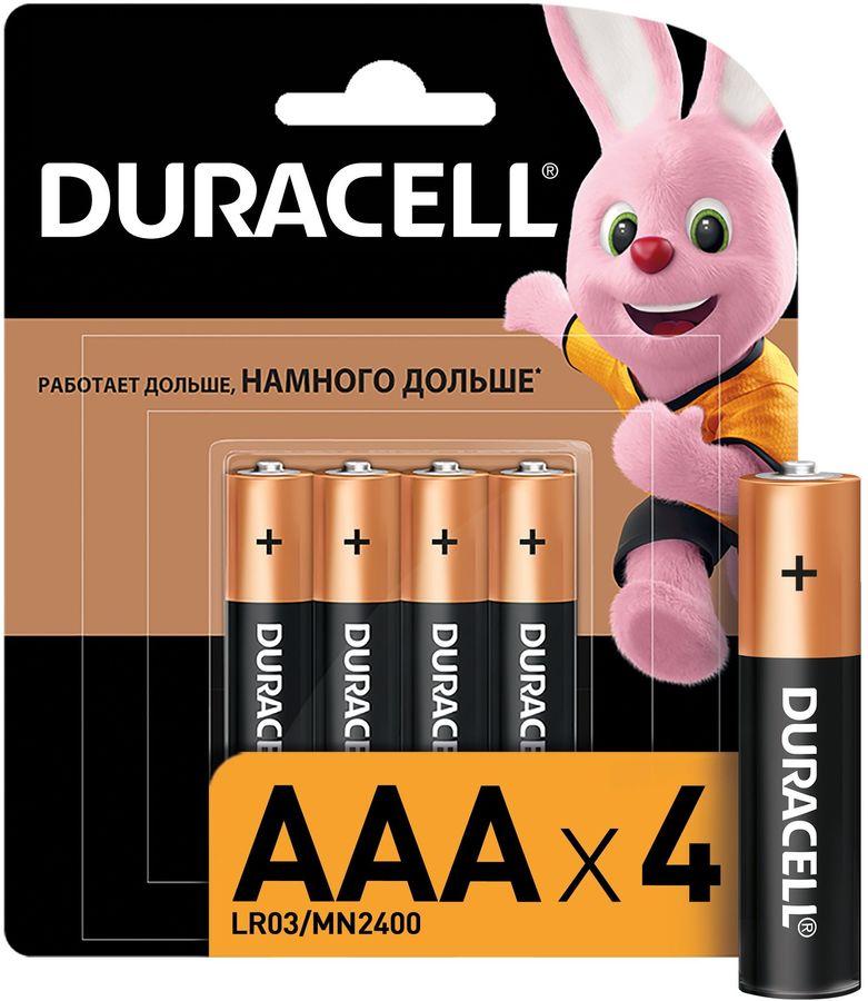 AAA Батарейка DURACELL Basic CN LR03-4BL MN2400,  4 шт.