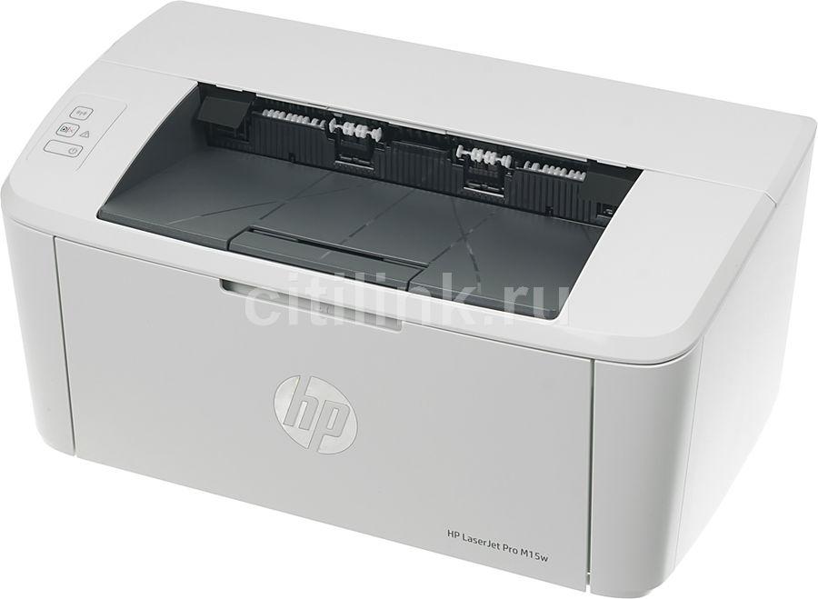 Принтер лазерный HP LaserJet Pro M15w лазерный, цвет:  белый [w2g51a]