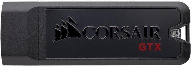 Флешка USB CORSAIR Voyager GTX 128Гб, USB3.0, черный и черный [cmfvygtx3c-128gb]