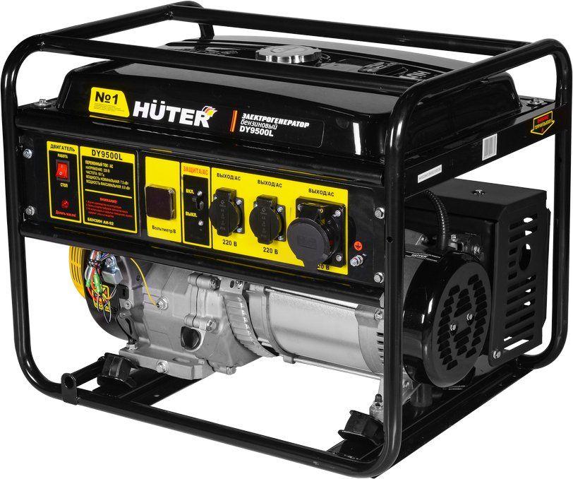 Бензиновый генератор HUTER DY9500L,  220 В,  8кВт [64/1/39]