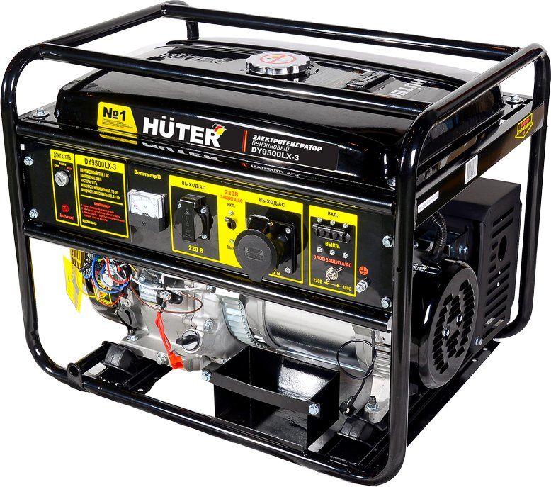 Бензиновый генератор HUTER DY9500LX-3,  380 В,  8кВт [64/1/41]