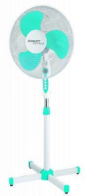 Вентилятор напольный SCARLETT SC-SF111B12,  белый и голубой [sc - sf111b12]