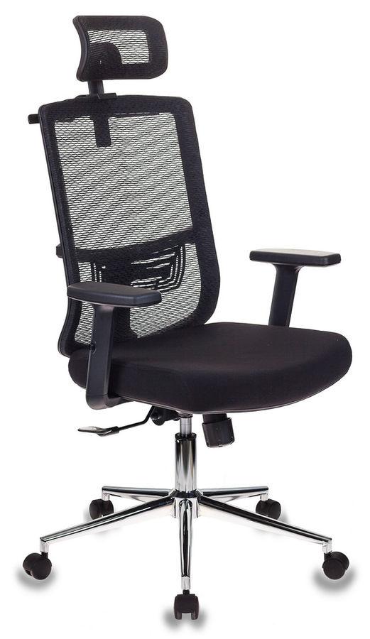 Кресло руководителя БЮРОКРАТ MC-612-H, на колесиках, сетка/ткань, черный [mc-612-h/b/26-b01]