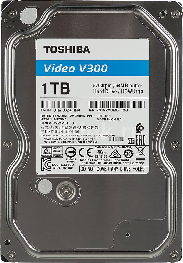 "Жесткий диск TOSHIBA V300 HDWU110UZSVA,  1Тб,  HDD,  SATA III,  3.5"""