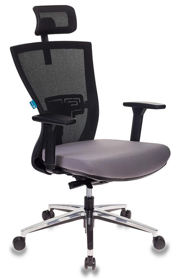 Кресло руководителя БЮРОКРАТ MC-815-H, на колесиках, сетка/ткань, темно-серый/черный [mc-815-h/b/fb02]