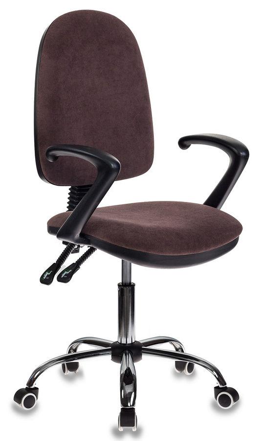 Кресло БЮРОКРАТ T-610SL, на колесиках, ткань [t-610sl/brown]