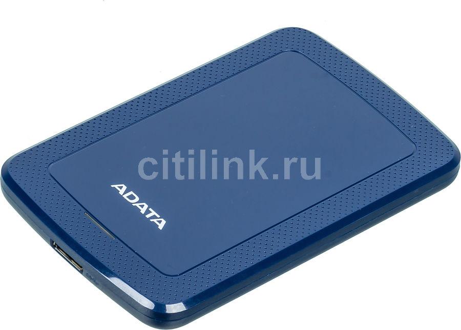 Внешний жесткий диск A-DATA HV300, 1Тб, синий [ahv300-1tu31-cbl]