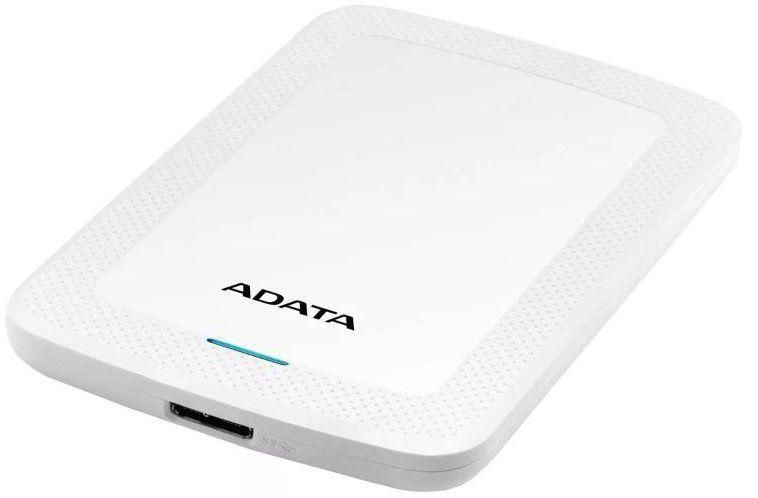 Внешний жесткий диск A-DATA HV300, 2Тб, белый [ahv300-2tu31-cwh]