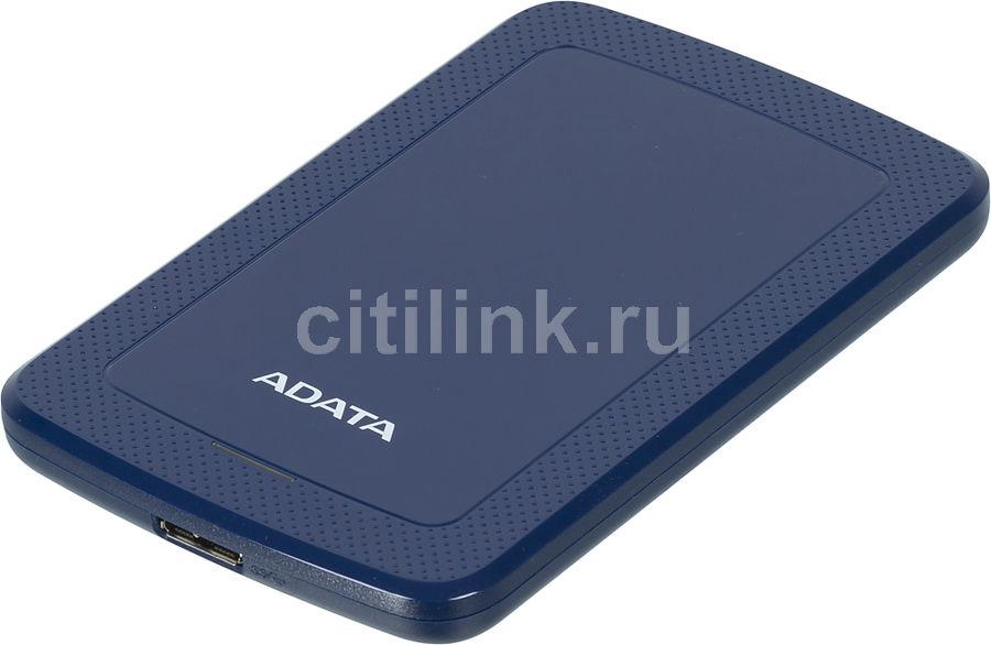 Внешний жесткий диск A-DATA HV300, 2Тб, синий [ahv300-2tu31-cbl]