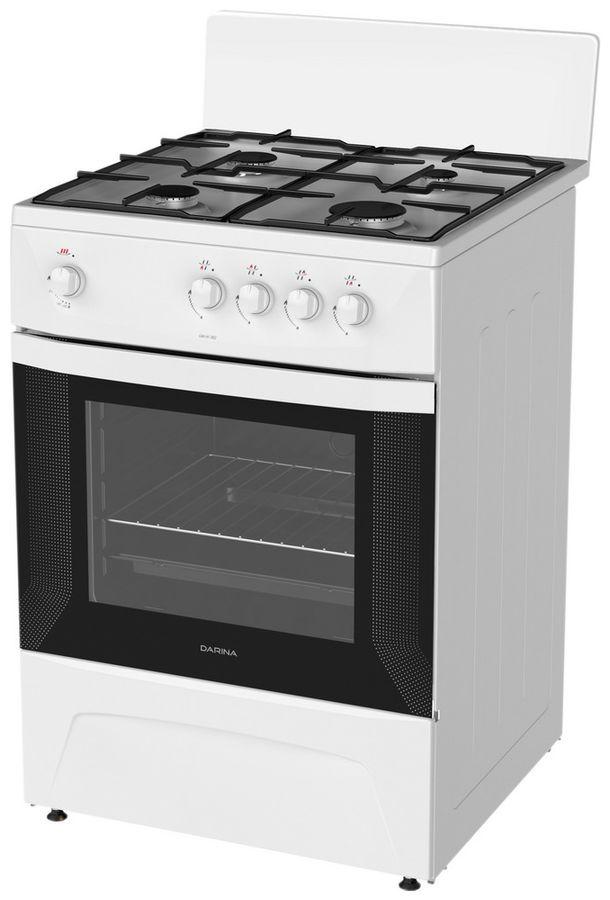 Газовая плита DARINA C 1001 W,  газовая духовка,  белый