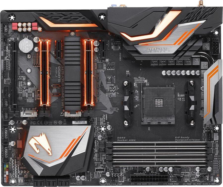 Материнская плата GIGABYTE X470 AORUS GAMING 5 WIFI, SocketAM4, AMD X470, ATX, Ret
