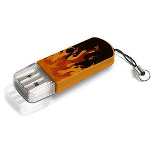Флешка USB VERBATIM Mini Elements Edition 32Гб, USB2.0, черный и рисунок [49409]